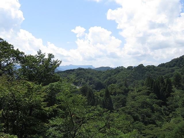 妙義山を登っている最中に見える風景