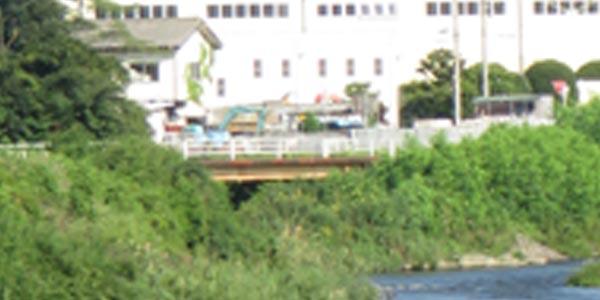 旧水路橋のアップ